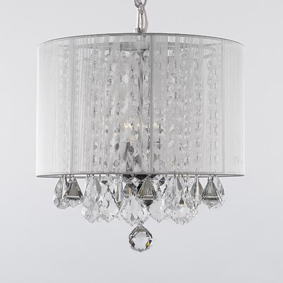 Harrison Lane 3 Light Crystal Chandelier T40-596