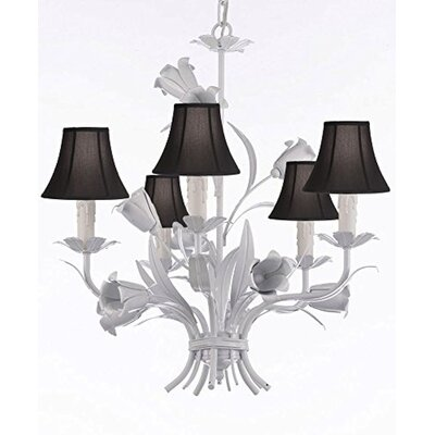 5-Light Shaded Chandelier Shade Color: No Shade