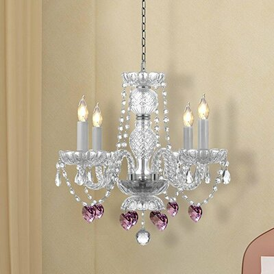 Kaelin 4-Light Crystal Chandelier