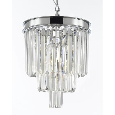 Odeon 3-Light Crystal Chandelier