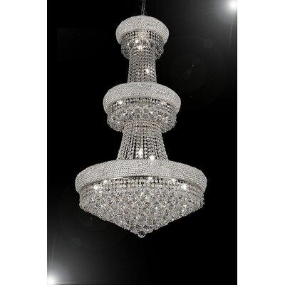 Empire 24-Light Crystal Chandelier Color: Silver