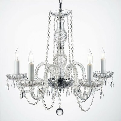 Josue 5-Light Crystal chandelier