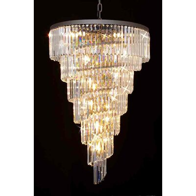 Retro Odeon 28-Light Crystal Chandelier