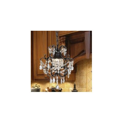 Clemence 1-Light Traditional Crystal Pendant