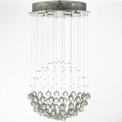 Antoninus 6-Light Chrome Flush Mount