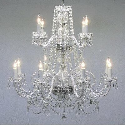 Kelsch 12-Light Crystal Chandelier