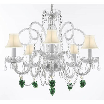 Empress 5-Light Crystal Chandelier