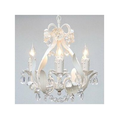 Empress 4-Light Candle-Style Chandelier Crystal Color: White