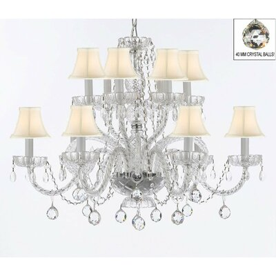 Atchley 12-Light Crystal Chandelier