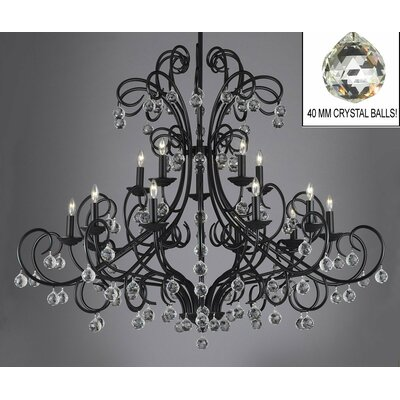 Alvan 14-Light Crystal Chandelier