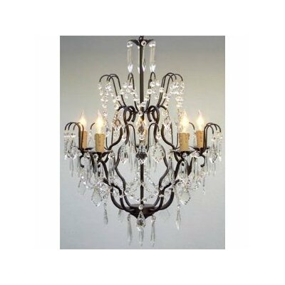 Clemence 5-Light Crystal Chandelier with Chain and Wire
