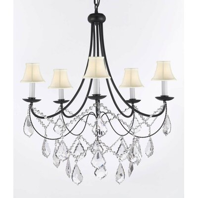 Faxon 5-Light Crystal Chandelier