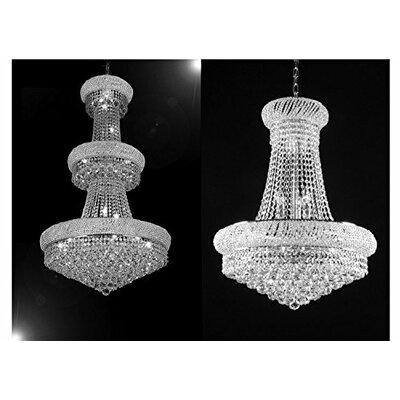 Litzy 2 Piece Crystal Chandelier Set Size: 50 H x 30 W x 30 D