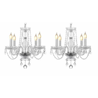 Lipman 4-Light Crystal Chandelier