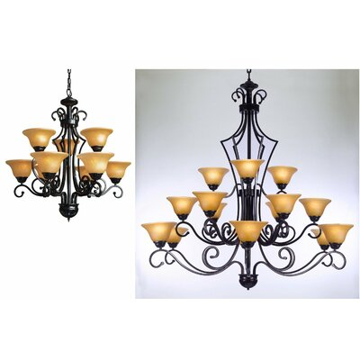 Bethania 2 Piece Shaded Chandelier Set