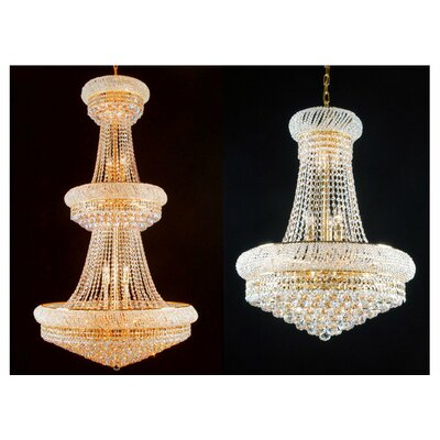 Litz 2 Piece Crystal Chandelier Set Size: 50 H x 30 W x 30 D