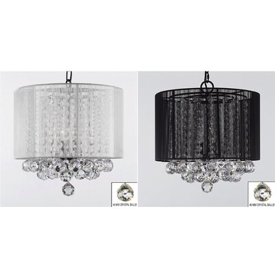 Horvath 3-Light Drum Chandelier