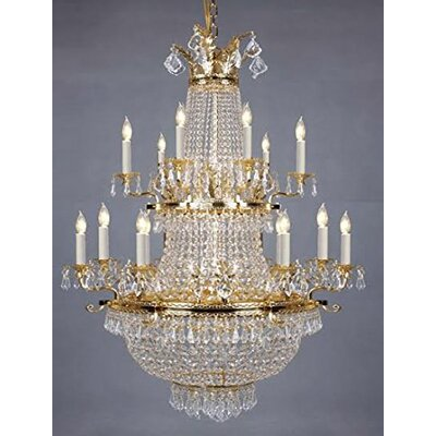 Livesay 25-Light Crystal Chandelier