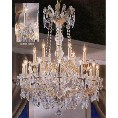 Alvarado 18-Light Gold Crystal Chandelier