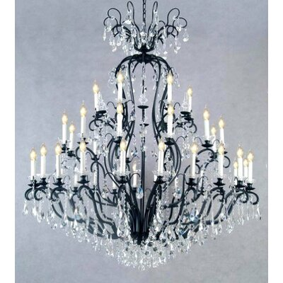 Clemence 41-Light Black Crystal Chandelier