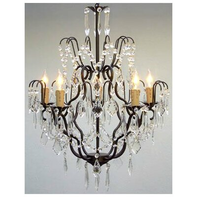 Alvan 5-Light Crystal Chandelier