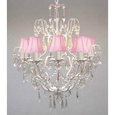 Versailles 5-Light Crystal Chandelier Shade Color: Pink