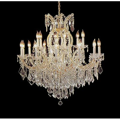 Alvarado 16-Light Impress Crystal Chandelier