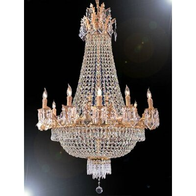 Trimmed 15-Light Empire Chandelier Size: 40 H x 30 W