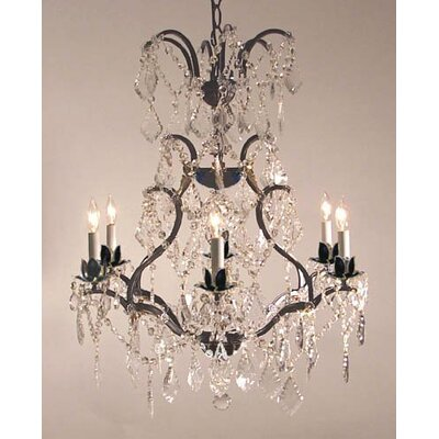 Majesty 6-Light Crystal Chandelier