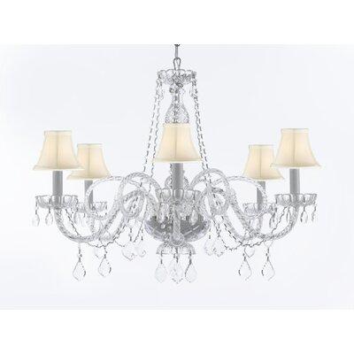 Keltner Venetian Style 6-Light Crystal Chandelier