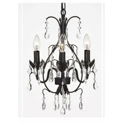 Versailles 3-Light Crystal Chandelier