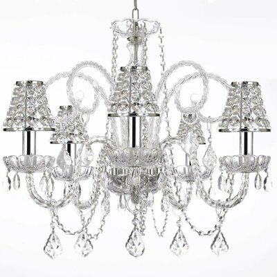 Keller 5-Light Crystal Chandelier
