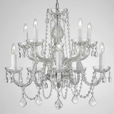 Kelch 10-Light Crystal Chandelier