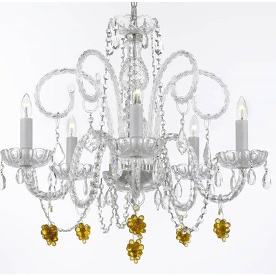 Kelemen 5-Light Crystal Chandelier