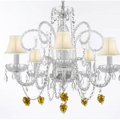 Kellems 5-Light Shaded Chandelier