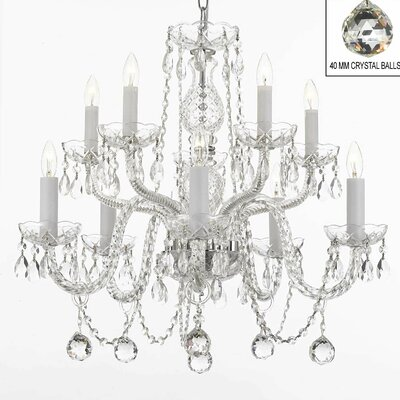 Keitt 10-Light Crystal Chandelier