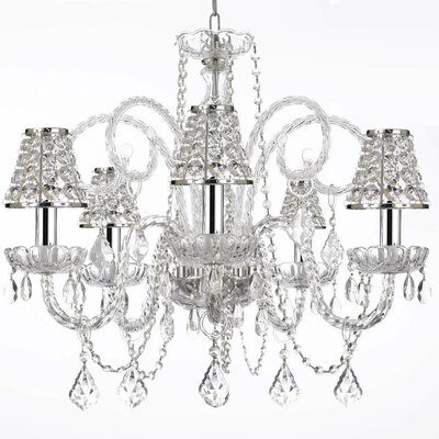 Kellett 6-Light Crystal Chandelier