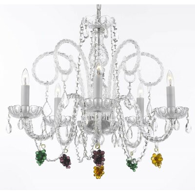 5-Light Crystal Chandelier