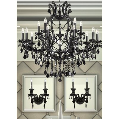 Keeler 3 Piece Crystal Chandelier and Wall Sconce Set
