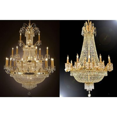 2 Piece Crystal Chandelier Set