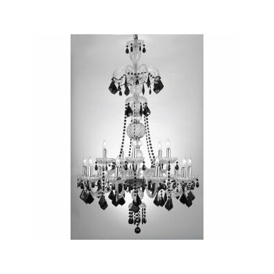Royal 15-Light Crystal Chandelier Shade Included: No