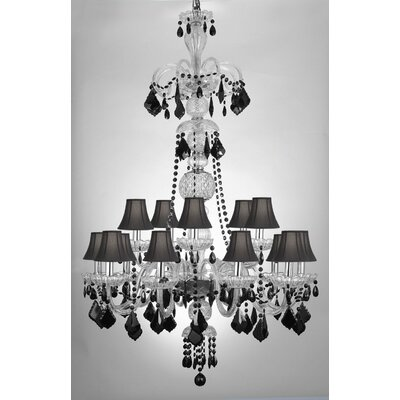 Meredith 15-Light Crystal Chandelier Shade Included: Yes