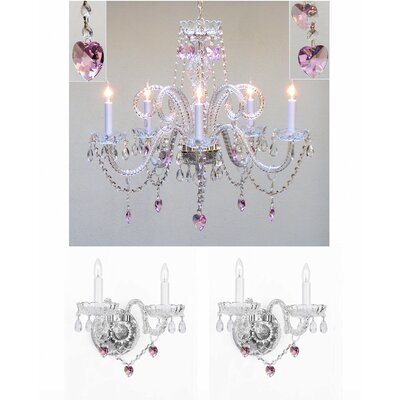 Kendari 5-Light Crystal Chandelier