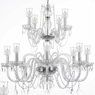 12-Light Crystal Chandelier Shade Included: No