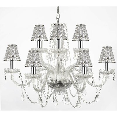 Kemble 12-Light Crystal Chandelier Shade Included: Yes