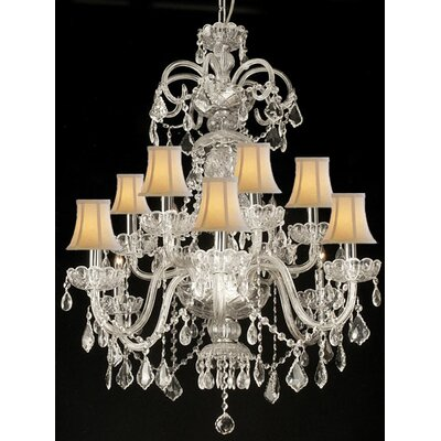 Adams 12-Light Crystal Chandelier