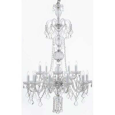 Meredith 12-Light Crystal Chandelier