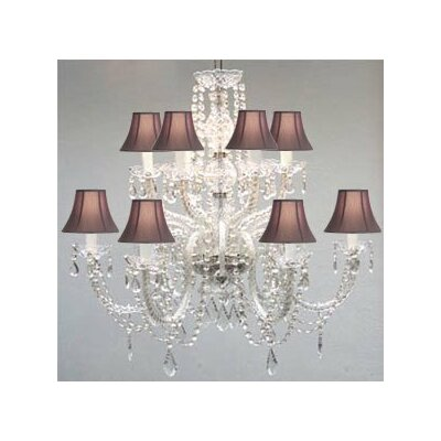 Kempf 12-Light Crystal Chandelier Shade Color: Black