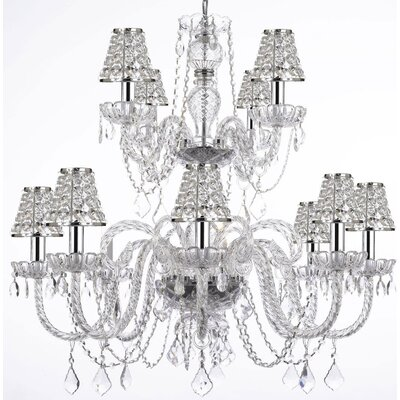 12-Light Crystal Chandelier Shade Included: Yes