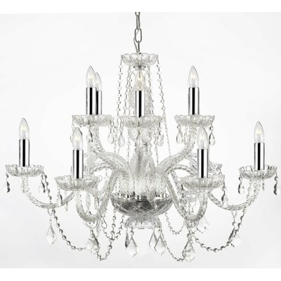 Kemble 12-Light Crystal Chandelier Shade Included: No